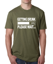 Summer funny Getting Drunk please wait print cotton t-shirt Men 2017 plus size short sleeve hip-hop camisetas male harajuku tops