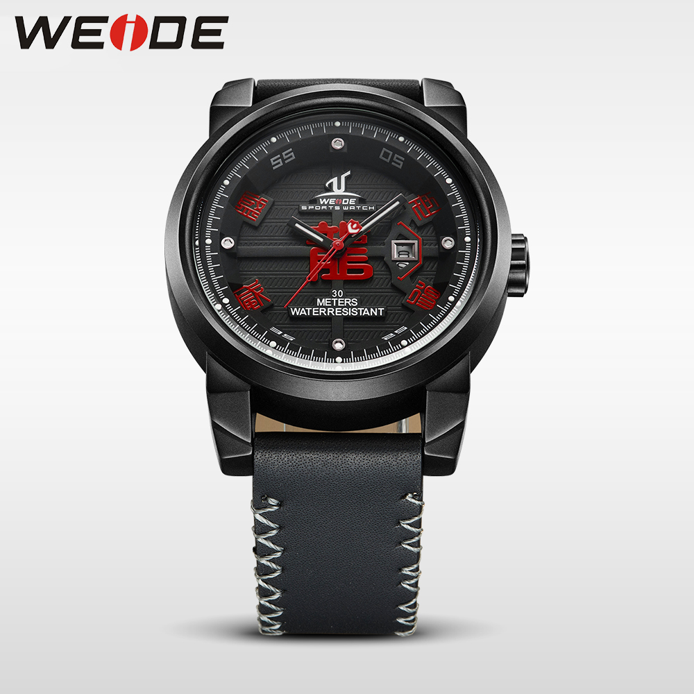 WEIDE Brand Watch Waterproof  High Quality Leather Strap  Dial Analog Date luxury Sport Quartz  Watch electronic wrist watches<br>