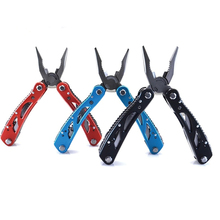 New High Quality Multi Tools Pliers with Screwdriver Kit Camping Climbing Hiking Plier Pocket Cutting Multitools Black Red Blue(China)