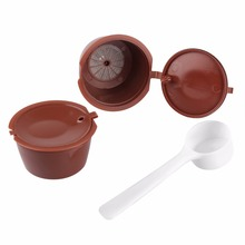 2Pcs Refillable Dolce Gusto Coffee Capsule Nescafe Dolce Gusto Reusable Capsule Dolce Gusto Capsules With 1Pcs Coffee Spoon(China)