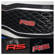 3D Metal RS Grille Emblem Sticker Badge Car Styling For MINI ROADSTER CLUBMAN COUNTRYMAN PACEMAN COUPE BMW  M F15 E70 E71 E91 E9