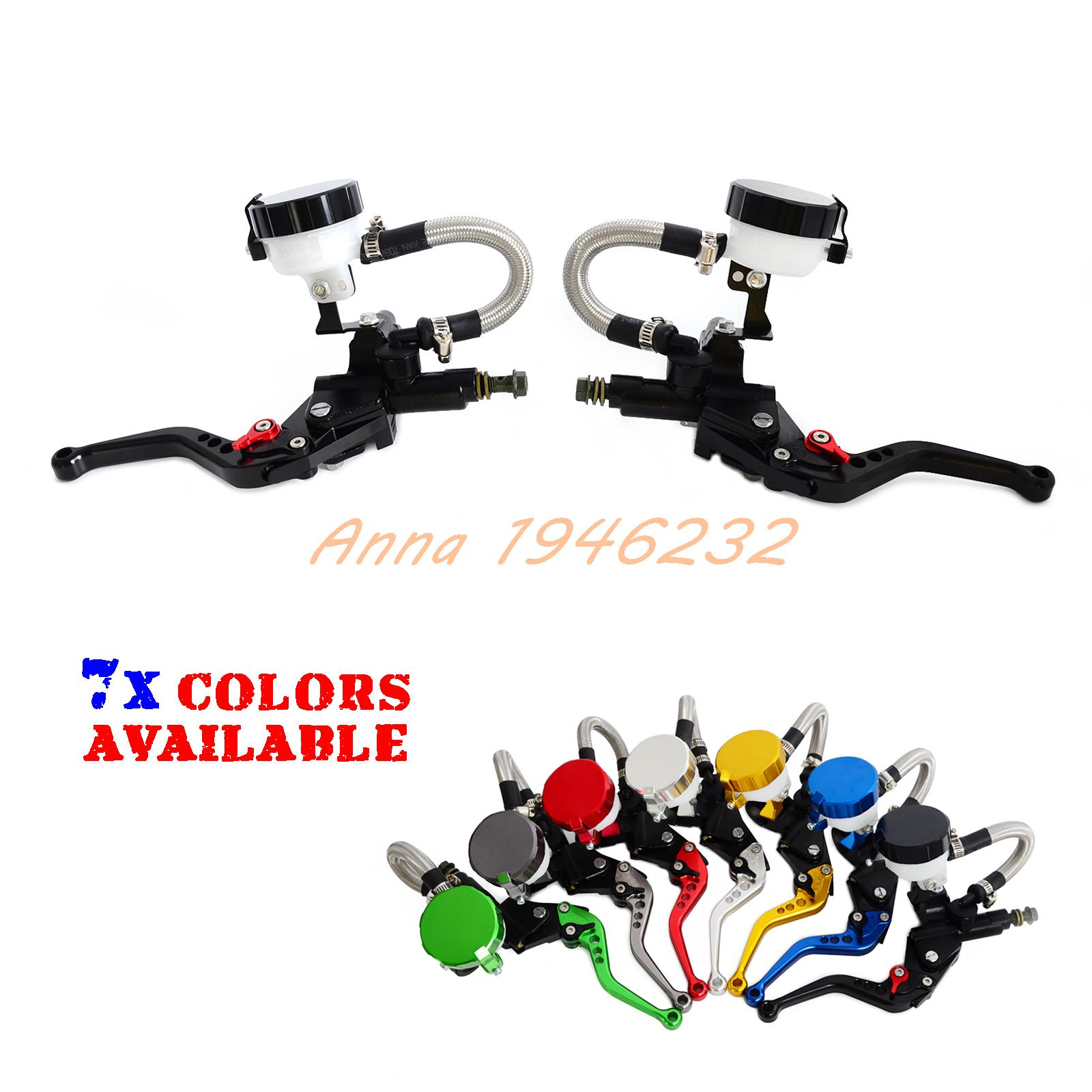 Universal Motorcycle 7/8Clutch Brake Levers Master Cylinder Oil Fluid Reservoir Motocross Enduro Supermoto Dirt Bike Motorcycle<br>