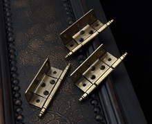 4PCS/LOT American Ball Tip Hinge Inset Wrap Cabinetry Cupboard Bronze