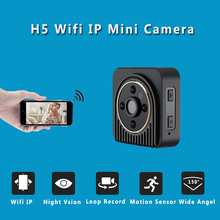H5 Mini Camera Wifi IP 720P HD Mini Camera Wireless P2P Body Camera Night Vision Mini DV Camera Motion Sensor Micro Video Cam