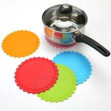 Hot Sales 1pcs Round Non-Slip Heat Resistant Mat Coaster Cushion Placemat Pot Holder Table Silicone Mat Kitchen Accessories