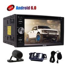 Android 6.0 Car DVD CD Player Double 2 Din Car Head unit Stereo 6.2'' HD Touch Screen In Dash GPS Navi Auto Radio+Dual Cameras(China)