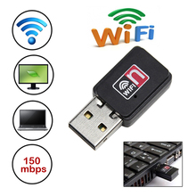 High Speed 150Mbs USB WiFi Wireless Adapter Laptop Network LAN Card 802.11 n/g/b Small Network Card(China)