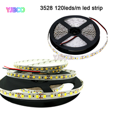 5m white/warm white/blue/green/red/yellow 120leds/m SMD3528 flexible LED strip tape light,DC12V 600leds(China)
