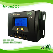 JNGE Brand LCD Display 12v 24v auto PWM Solar Charge Controller Solar Panel Battery Regulator with Full Protection
