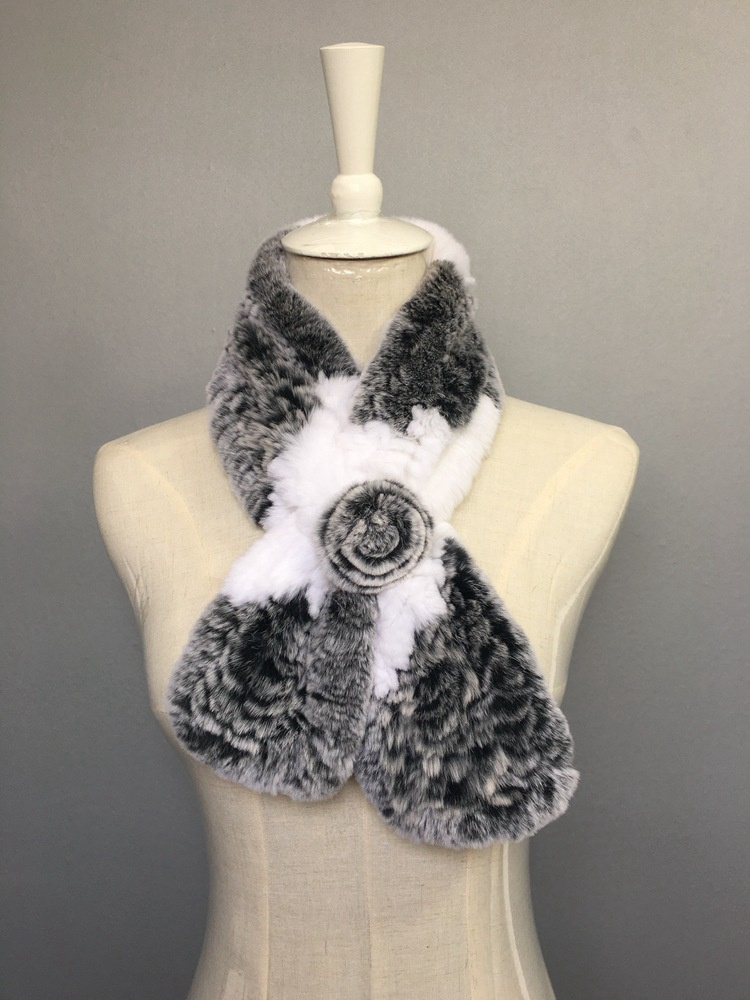 natural rabbit fur scarves (4)
