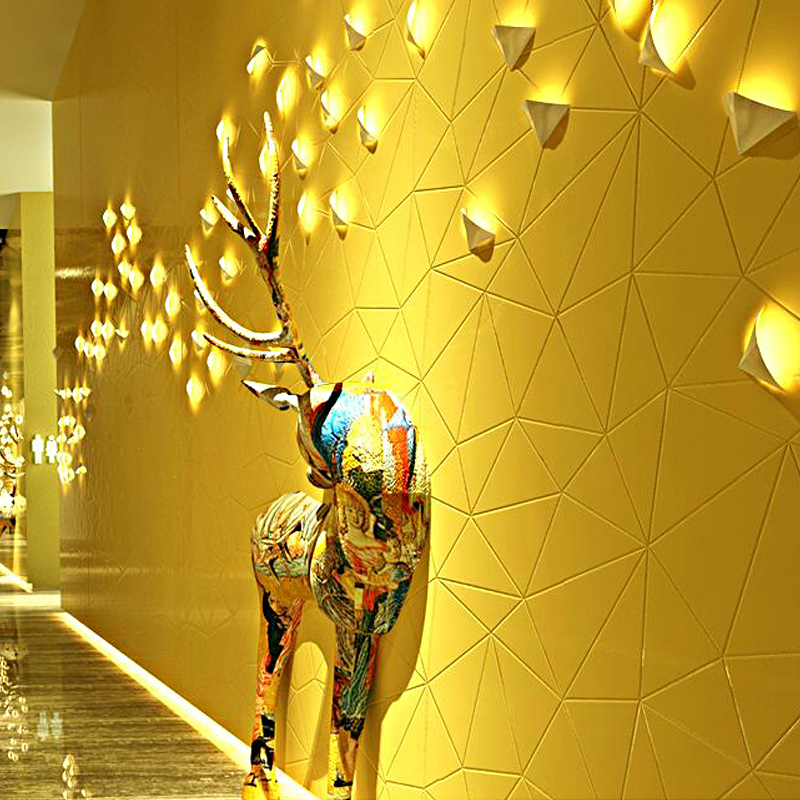 3D Stereo Personality Fashion Gold Foil Wallpaper Restaurant KTV Hotel Bar Theme Room PVC Wallpaper Papel De Parede 3D Paisagem <br>
