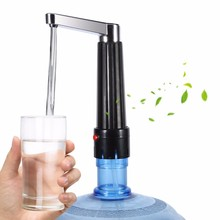 Portable Electric Drinking Water Bottle Pump with Power Adapter Transparent Hose Dispenser Suction Unit Kitchen Drinkware Tools(China)