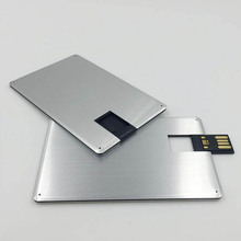 Customized metal credit card usb flash drive DIY Logo Business &holiday gift usb flash drive 2G 4G 8G 16G hot selling