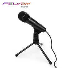 FELYBY Desktop Condenser Microphone Professional podcast Studio microphone for computer phone Laptop Skype speech meeting game(China)