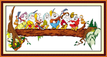 The seven dwarfs cross stitch kit people 18ct 14ct 11ct count print canvas stitches embroidery DIY handmade needlework(China)