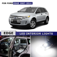 13x Car Dome Map Trunk Lamp Bulb Licence plate lights Car Led Interior Light Package Kit White For Ford EDGE 2007-2014(China)