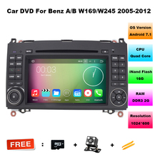 "Quad Core 7""Capacitive Screen 1024*600 HD Pixels Android 5.1 Car DVD GPS For Benz A-Class W169 W245 Vito Viano B200 With 3G WiFi"