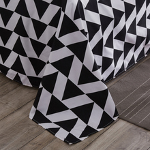 Sookie Geometric Flat Sheets King Size Dots Zigzag Reactive Printed Bed Sheets Queen Size Bedsheet Black&White Orange Blue(China)