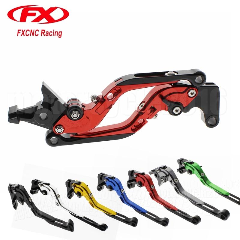 FXCNC Foldable/Extendable Motocycle Brake Clutch Levers For Kawasaki NINJA 650R ER6F ER6N 2006 2007 2008 Brake Clutch lever<br>