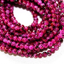 Latest Designed Approx 210pcs/lot 4mm Rose Red Glass Beads for Jewelry findings & DIY Beads BBD014-64