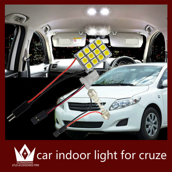Guang Dian car led light Interior lamp Roof bulb Dome Panel Reading light door led Trunk Light t10 festoon error free for cruze<br><br>Aliexpress