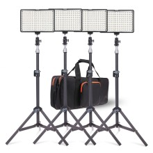 Travor 4 in 1 Photography 160 LED Studio Lighting Kit  Dimmable Ultra High Power Panel Digital Camera DSLR Camcorder LED light