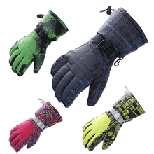 2016 New brand ski gloves Snowboard Motorcycle winter gloves Skiing Windproof Waterproof unisex Men and Women Warm gloves B-0745(China)