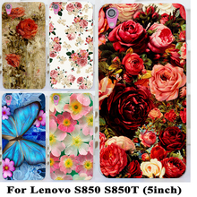 Buy TAOYUNXI Soft TPU Hard plastic Phone Case Lenovo S850 S850t Case Housing Cover S850T Rose Peony Flower Phone Cover Shell for $1.68 in AliExpress store