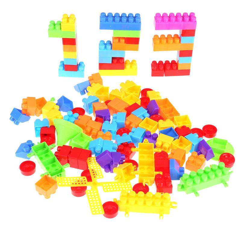 100pcs Kids Model Building Brick Toys Kits Baby Brain Teaser Match Blocks Children Early Educational Intellectual Toy Xmas Gift