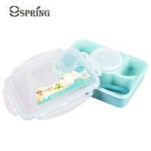 High Quality Plastic Bento Lunch Boxs Students Kids Lunch Boxs with Soup Bowl Portable Food Container Tableware Dinnerware Set(China)