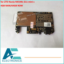 Motherboard for ZTE Nuvia NX549J Z11 mini s Mainboard 4GB RAM 64GB ROM Logic Board Circuits(China)