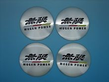 2015 HOT 4pcs Wheel Center Hub Caps Emblem Stickers decals For MUGEN Power for Honda -56mm high quality free shipping