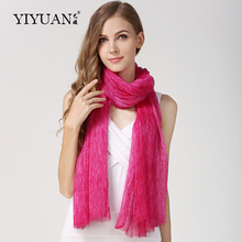 100% Natural Silk Scarves Autumn Winter New Listing Female Neckerchief Hand Brush Pure Color Fashion Women Scarf Shawl