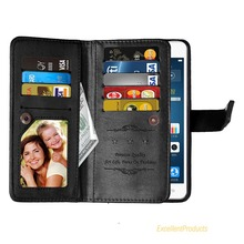 Magnetic 2 in 1 Solid Color PU Leather case For LG Stylus 2 Flip Cover Wallet Case 9 Card Slots
