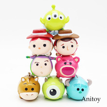 Toy Story Woody Jessie Buzz Lightyear Alien Monsters Inc Sullivan Mini PVC Action Figure Collectible Model Toy 8pcs/set KT3607