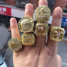 6pcs / set 2000 2001 2002 2009 2010 2016 Los Angeles Lakers basketball championship rings High quality interior engraving