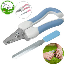 Pet Safety Claw Nail Scissors Cutter Dogs & Cats Nail Clippers and Trimmer Pet Grooming Supplies Free Nail Toe File Included(China)