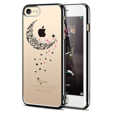 ICONFLANG For iPhone 7 Back Case Swarovski Coloured Diamond Cases Anti- Scratch For iPhone 7 Plus Phone Shell Cover