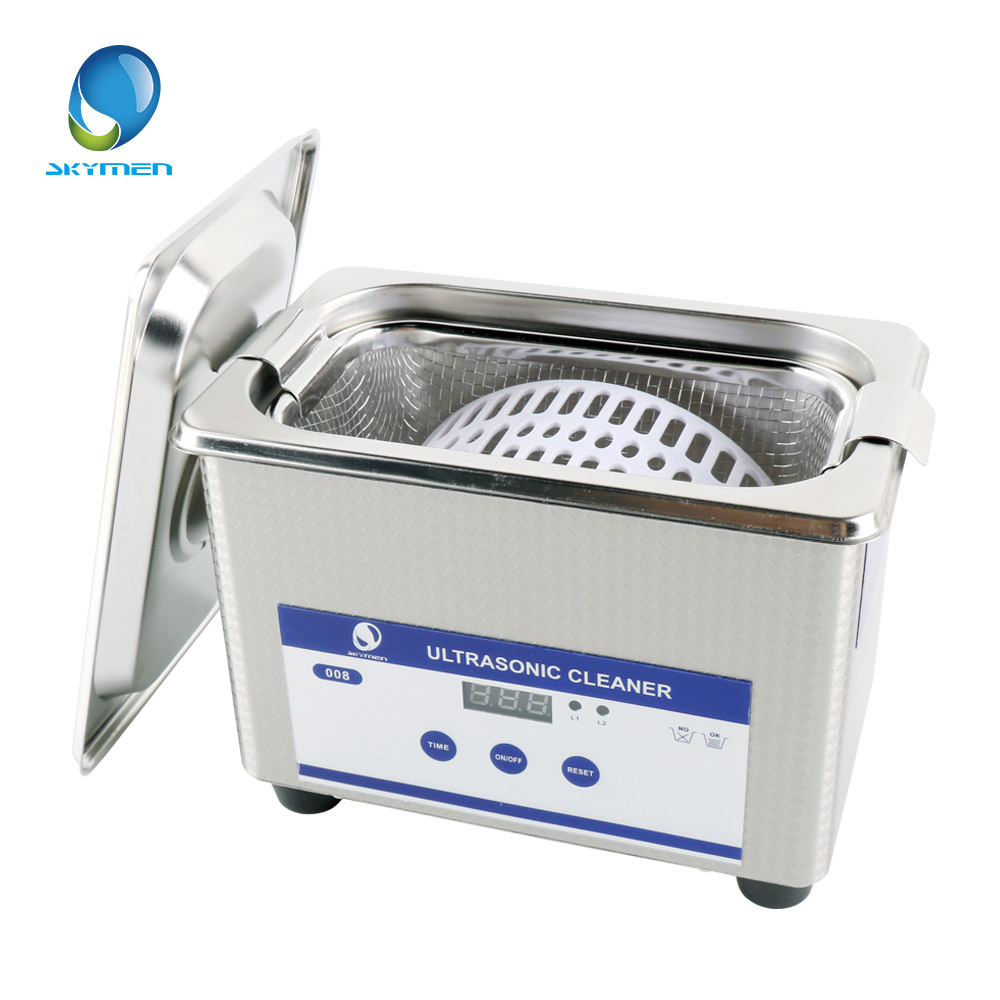 Digital Ultrasonic Cleaning Baskets Jewelry Watches Dental PCB CD 0.8L 35W 40kHz Ultrasound Mini Ultrasonic Cleaner Bath(China (Mainland))