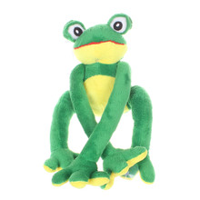 30CM Cute Cartoon Music Frog Plush Toy Doll Soft PP Stuffed Animal Green Frog Toy Birthday Present for Kids