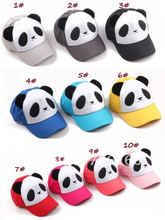 kids baseball cap&sports hat, children snapback Panda hat,suit for kids&can choose color,EMS/DHL free shipping(China)