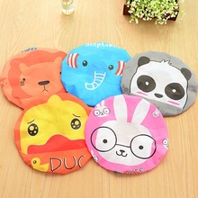 2PCS/lot Bathroom Accessories Waterproof Shower Hat Elastic Band Bath Hat Cute Cartoon Rabbit Elepant Lion Duck Panda Shower Hat