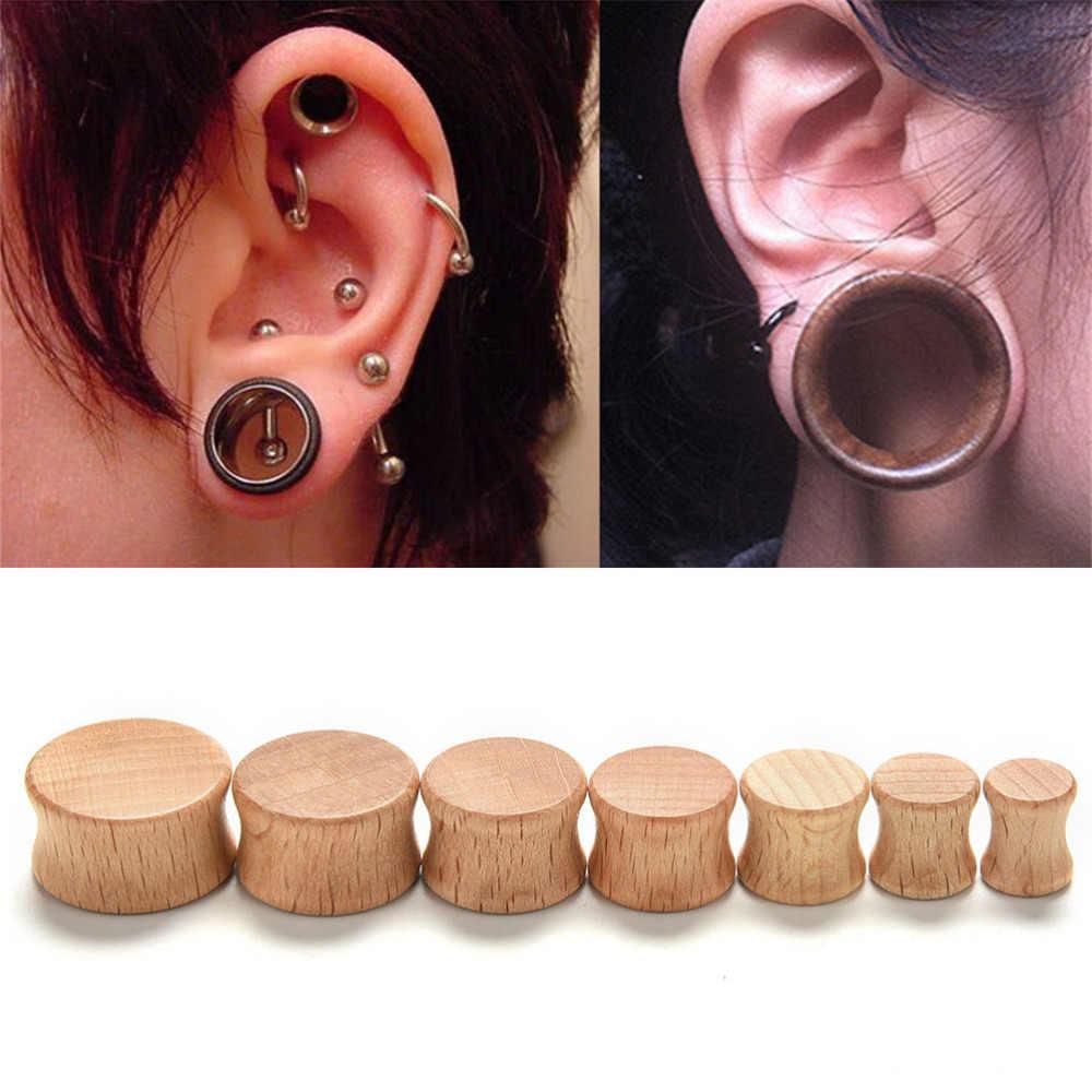 8 20mm 1pc Special Design Men Fashion Wood Flesh Tunnels Ear Plugs
