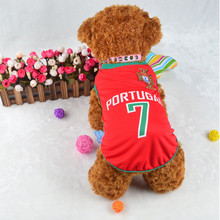 Spring/Summer Dog Vest Dog Football Shirt Puppy Pet Dog Soccer Jersey Cool Football Dog Clothes - 6 Teams Uniforms of all Sizes(China)