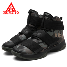 Humtto Men Basketball Shoes Air Damping Men Sports Sneakers High Top Breathable Trainers Leather Shoes Men Outdoor Jordan Shoes