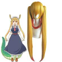 Kobayashi san Chi no Maid Dragon Tooru Wigs Cosplay Costume Miss Kobayashi's Dragon Maid Tohru Women Long Wig Synthetic Hair(China)