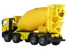 free shipping Children's toys factory car cement tanker truck simulation model of 1:50 alloy mixing alloy