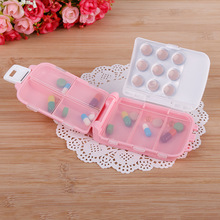 PInk hellokitty Weekly Pill Cases Medicine Storage for 7 Days Tablet Sorter Dispense Box Container Daily Pills Case Organizer(China)