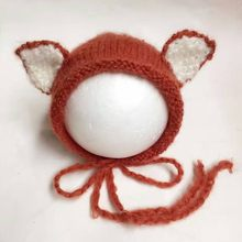 Fox Baby Crochet Hat Newborn Bonnet,Animal Pattern Baby Cap Photography Prop Newborn Baby Hat Beanie,#P0564(China)