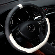 New Genuine Leather D Ring Car Steering Wheel Cover for VW Golf 6 Golf 7 GTi Mk7 Polo Sagitar Steering Wheel Covers Supplier